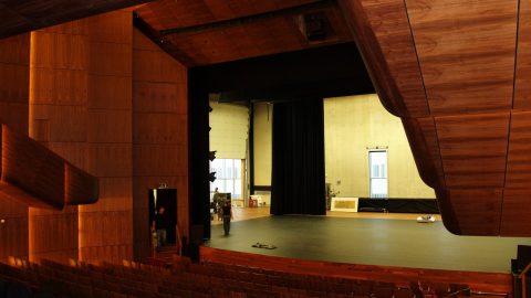 Schallschutztore; STC - Akustiktor; Rw - großes Tor - hinter der Bühne